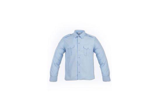 Chemise bleu ciel avec pattes d'epaules_10x7